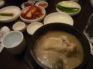 明洞の参鶏湯